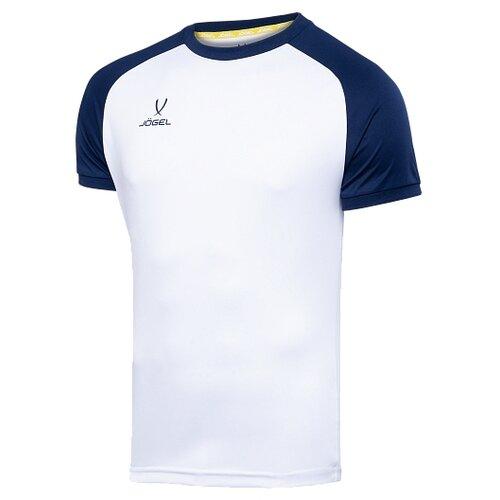 Купить Футболка Jogel размер YL, белый/темно-синий, Футболки и топы