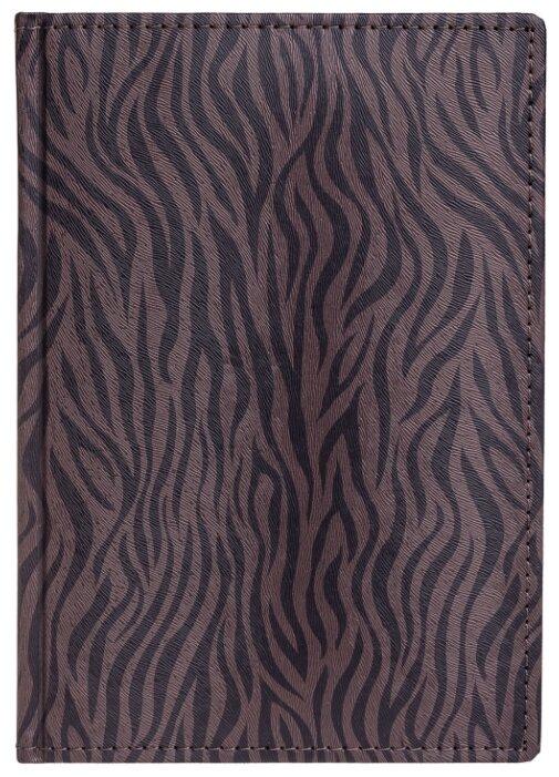 Еженедельник Hatber Zebra недатированный, искусственная кожа, А5, 176 листов