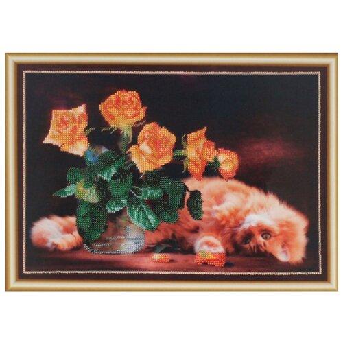 Купить Hobby & Pro Набор для вышивания бисером Шалунишка 35 х 25 см (БН-3069), Наборы для вышивания