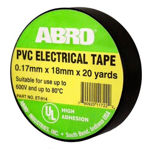 Изолента ABRO ET-914 термостойкая черный сумка abro 027531 37 60