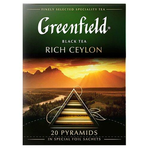 Чай черный Greenfield Rich Ceylon в пирамидках, 20 шт. чай черный greenfield sicilian citrus в пирамидках 20 шт