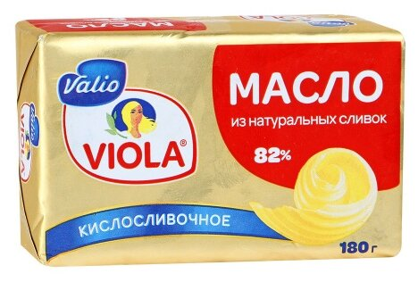 Valio Масло сладко-сливочное 82%, 180 г