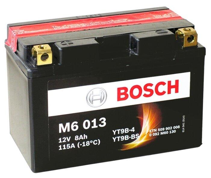 Мото аккумулятор Bosch M6 013 AGM (0 092 M60 130)