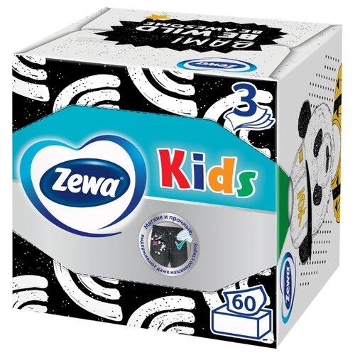 Салфетки Zewa Kids бумажные, 3 слоя, 60 шт.