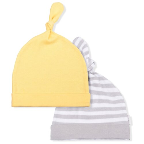 Купить Шапка LEO размер 48, серый/желтый, Головные уборы