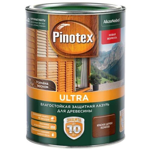 Водозащитная пропитка Pinotex Ultra красное дерево 1 л
