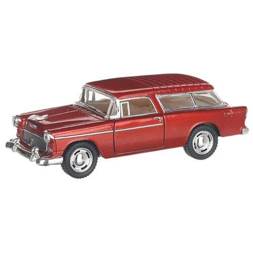 Купить Детская инерционная металлическая машинка с открывающимися дверями, модель Chevrolet Nomad hardtop, бордовый, Serinity Toys, Машинки и техника