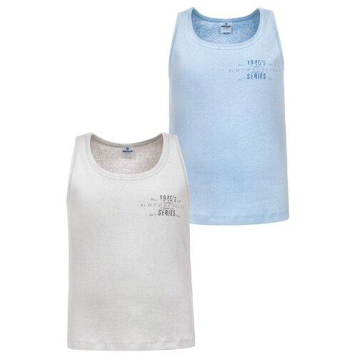 Купить Майка BAYKAR размер 86/92, серый/голубой, Белье