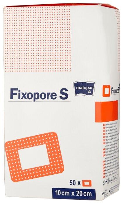 Matopat повязка Fixopore S с впитывающей прокладкой (20х10 см)