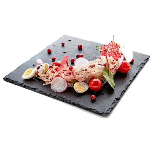 GourmetSlate Сланцевое Блюдо Native 30см х 30см черный