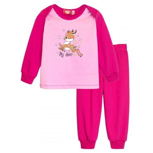 Пижама Let's Go размер 80, малиновый
