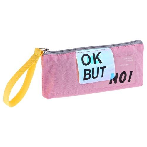Купить ArtSpace Пенал Ok but no (Tn_19781) розовый, Пеналы