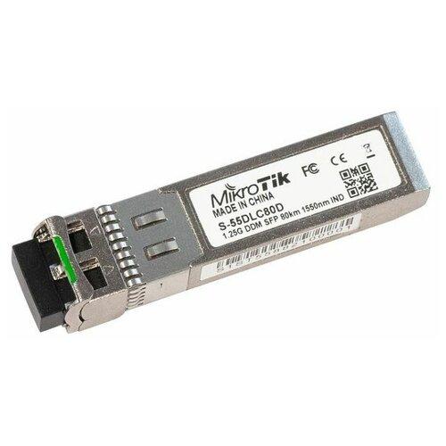 SFP трансивер MikroTik S-55DLC80D маршрутизатор mikrotik ccr1036 8g 2s 8x10 100 1000mbps 2xsfp 1xmicrousb