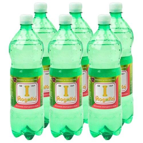 Вода минеральная Йодика газированная, ПЭТ, 6 шт. по 1 л вода минеральная калинов родник газированная пэт 6 шт по 1 5 л
