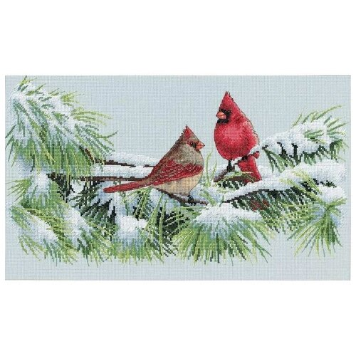 Купить Dimensions Набор для вышивания Зимние кардиналы 23 x 38 см (35178), Наборы для вышивания
