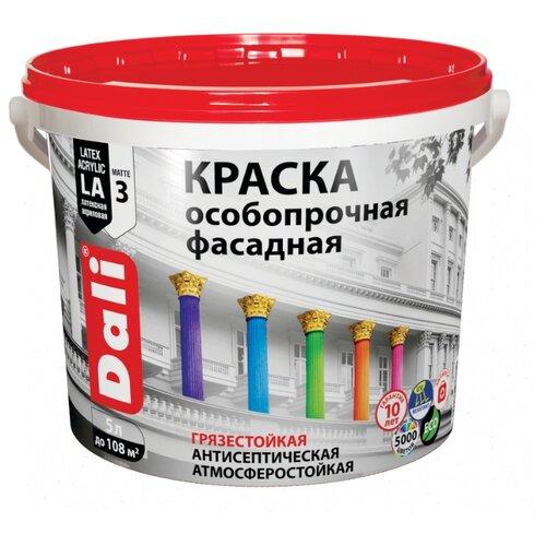 Фото - Краска акриловая DALI особопрочная Фасадная влагостойкая моющаяся матовая белый 5 л краска акриловая alpina долговечная фасадная влагостойкая матовая бесцветный 2 35 л