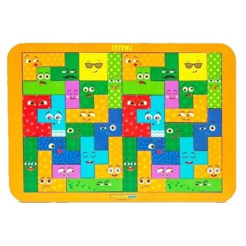 Головоломка Woodland Тетрис большой Смайлики (065110) желтый конструктор головоломка lemmo тетрис 139эл