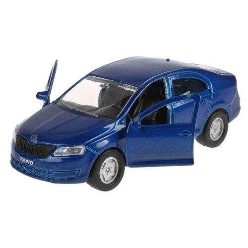 Купить Легковой автомобиль ТЕХНОПАРК Skoda Rapid (SB-18-22-SR-N(BU/R)-WB) 12 см синий, Машинки и техника