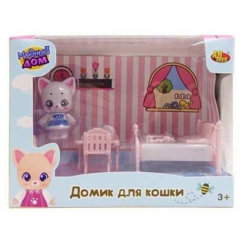 Игровой набор ABtoys Уютный дом - Домик для кошки. Спальня PT-01307