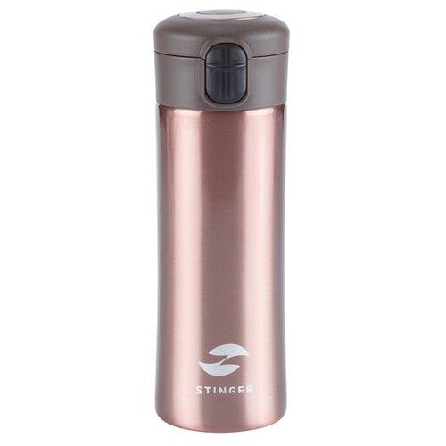 Термокружка Stinger, 0,35 л, сталь/пластик, розовое золото глянцевый, 8,4 x 7 x 21,2 см