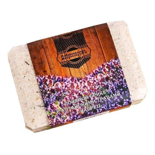 Добропаровъ Соляной брикет с алтайскими травами Чабрец, 1,35 кг бежевый