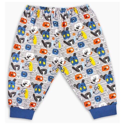 Брюки Веселый Малыш Собачий вальс 33170/one размер 74, синий/желтый/оранжевый брюки веселый малыш морской котик 33170 one размер 80 молочный серый синий