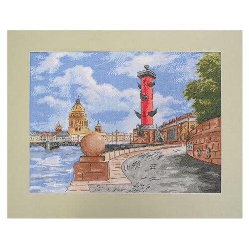 Купить Hobby & Pro Набор для вышивания Биржевая площадь (Стрелка Васильевского острова) 37 х 28 см (804), Наборы для вышивания