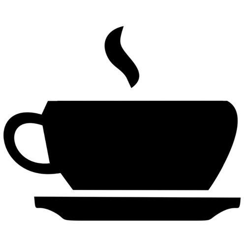 Наклейка Melcom Чашка Кофе 01, меловая наклейка