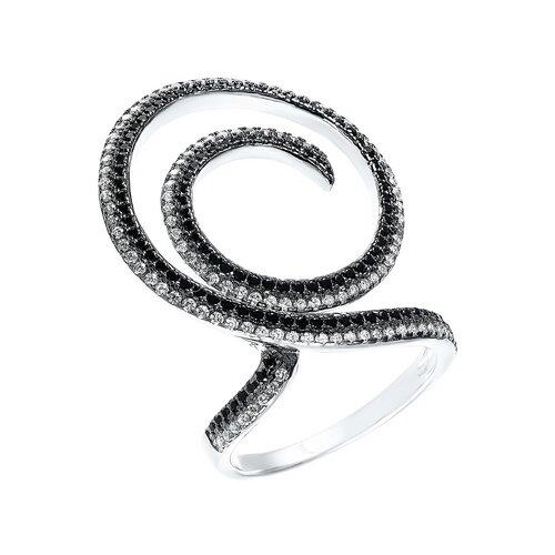 ELEMENT47 Кольцо из серебра 925 пробы с кубическим цирконием R25477-R3_KO_001_WG, размер 17
