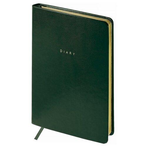 Купить Ежедневник OfficeSpace Windsor недатированный, искусственная кожа, А5, 136 листов, зеленый, Ежедневники, записные книжки
