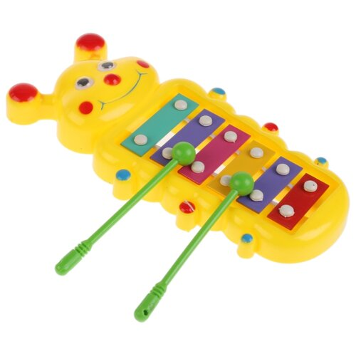 Играем вместе ксилофон Бабочка B576328-R2 зеленый/фиолетовый/оранжевый/красный/розовый/желтый шторы рулонные ролло идея рулонная штора ролло lux samba цветы зеленый оранжевый желтый 160 см