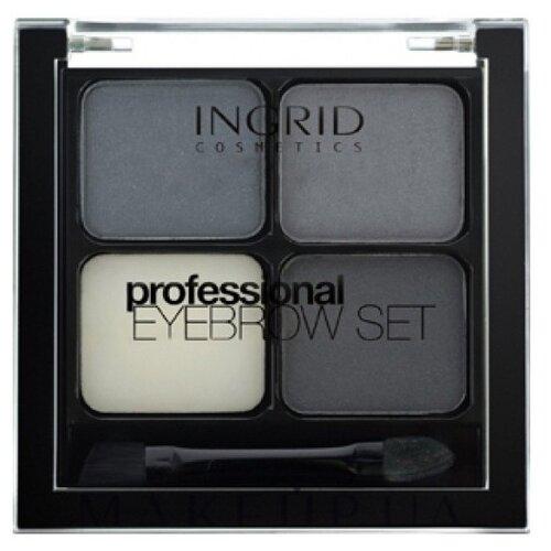 Ingrid Cosmetics Набор для бровей Professional Eyebrow Set графитовый