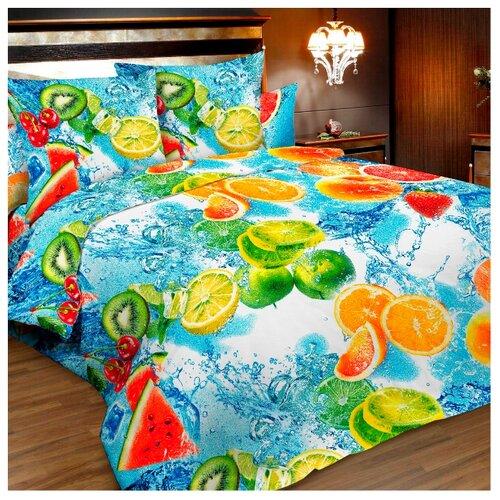 Постельное белье 1.5-спальное Letto B155 70х70 бязь голубой/желтый/красный/зеленый letto детское постельное белье 3 предмета letto машинки голубой