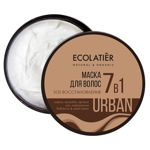 Купить ECOLATIER Маска для волос SOS Восстановление 7 в 1, 380 мл