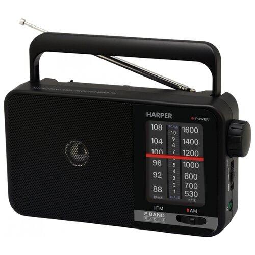 Радиоприемник HARPER HDRS-711 черный радиоприемник harper hdrs 711