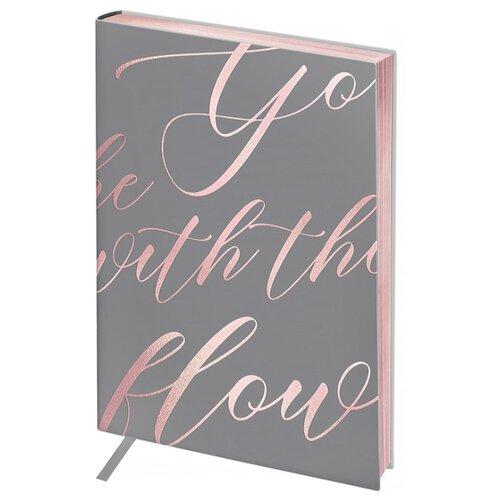 Ежедневник Greenwich Line Vision. Powder pink недатированный, искусственная кожа, B6, 136 листов, черный/розовый