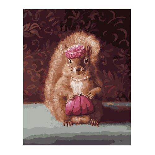 Фото - ВанГогВоМне Картина по номерам Модница белочка, 40х50 см (ZX 22167) картина по номерам 30 x 40 см krym fn11