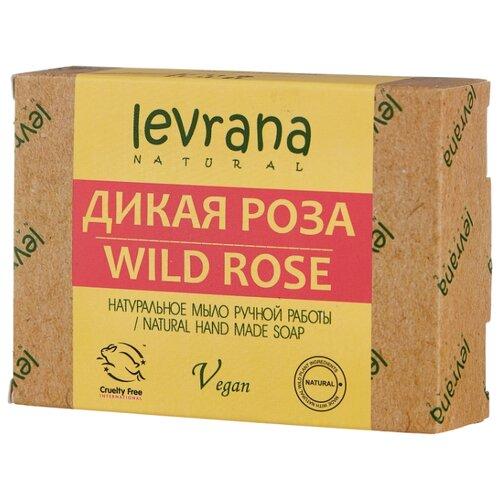 Мыло кусковое Levrana Дикая роза натуральное ручной работы, 100 г levrana натуральное мыло календула 100 г