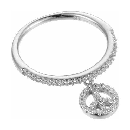 JV Кольцо с фианитами из серебра R-J0420-001-WG, размер 17 jv кольцо с фианитами из серебра r25193 r 001 wg размер 17