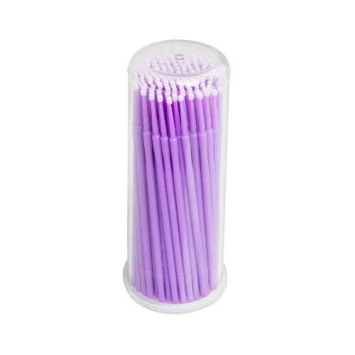 Купить Irisk Professional Микрощеточки в баночке, S, 90-100 шт. фиолетовый