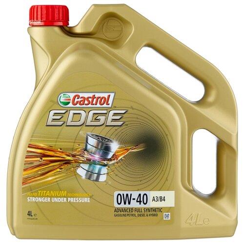 Моторное масло Castrol Edge 0W-40 A3/B4 4 л моторное масло castrol edge 0w 30 a5 b5 4 л