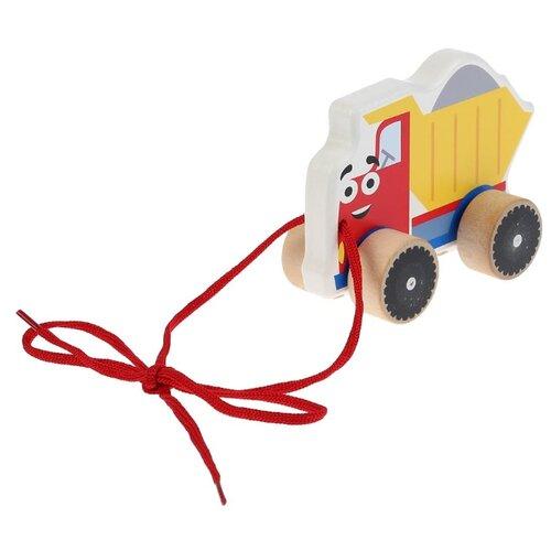 Каталка-игрушка Буратино Самосвал (KCT02) красный/желтый/синий.