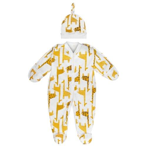 Купить Комплект одежды Amarobaby размер 80, белый, Комплекты