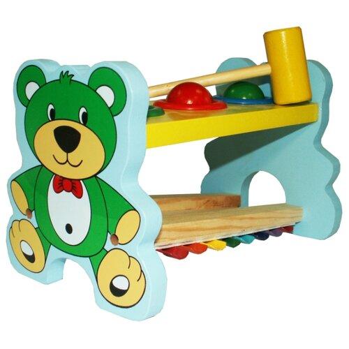 Купить Стучалка РИД музыкальная Мишка голубой/зеленый/желтый/красный, Развитие мелкой моторики