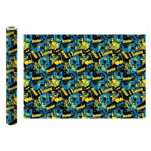 Бумага упаковочная ND Play Batman №2 100 x 70 см, 2 штуки синий бумага упаковочная nd play harry potter 2 3 100 х 70 см 2 шт красный