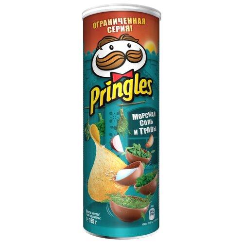 Чипсы Pringles картофельные Seasalt & Herbs, 165 г