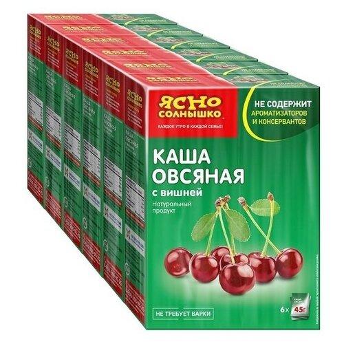 Ясно cолнышко Каша овсяная с вишней, порционная (6 шт.), 6 упаковок