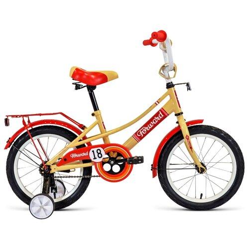 Детский велосипед FORWARD Azure 18 (2020) бежевый/красный (требует финальной сборки)