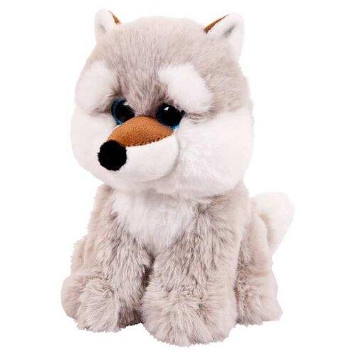 Мягкая игрушка Junfa toys В дикой природе Волк серый 15 см