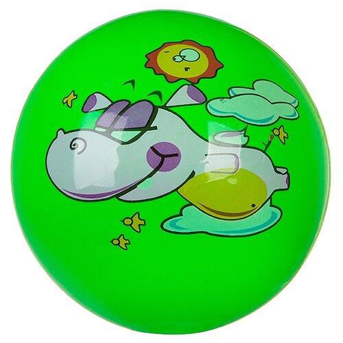 Мяч Летающий бегемот, 22 см, зелeный мяч гратвест бегемот загорает c20408 22 см синий